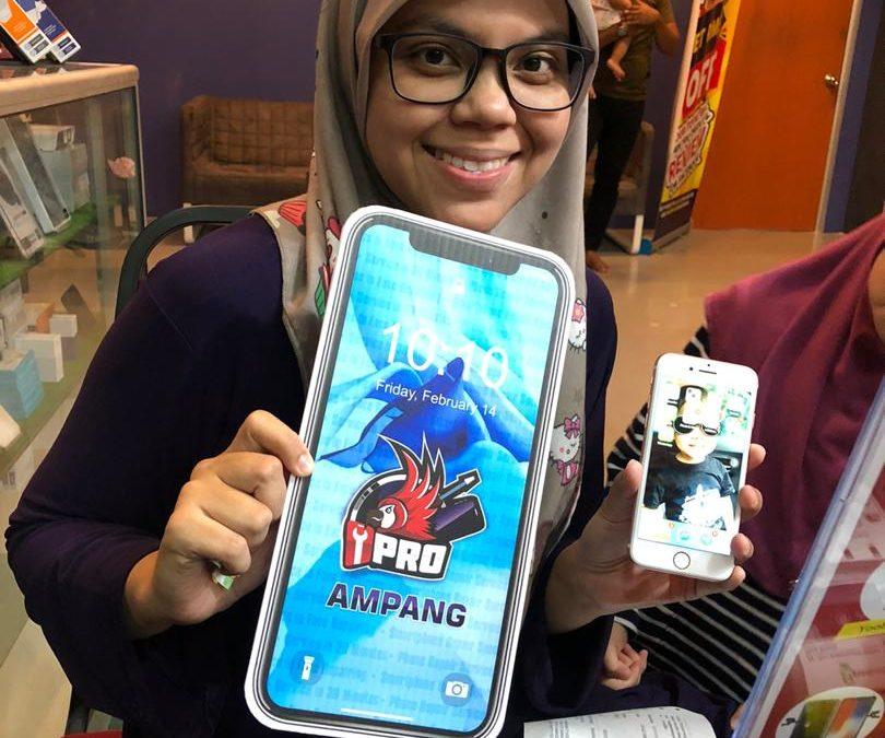 iPhone 7 Skrin Retak di iPro Ampang Kuala Lumpur
